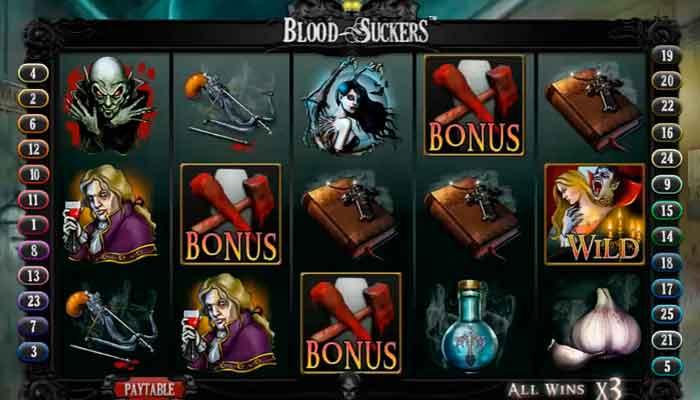 Beste casinospill for omsetningskrav Blood Suckers